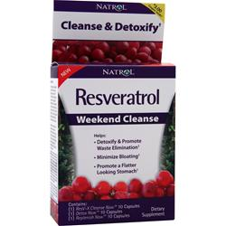 NATROL Resveratrol Weekend Cleanse 30 caps
