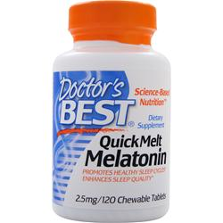 DOCTOR'S BEST QuickMelt Melatonin 120 tabs