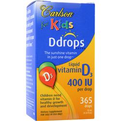 CARLSON for Kids - Ddrops Liquid Vitamin D3 (400IU) 365 drops