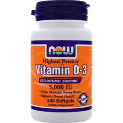 NOW Vitamin D-3 (5000IU) 240 sgels