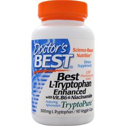 DOCTOR'S BEST Best L-Tryptophan Enhanced w/ B6 & Niacinamide 90 vcaps