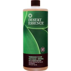 DESERT ESSENCE Thoroughly Clean Face Wash - Original Tea Tree Oil and Awapuhi 32 fl.oz