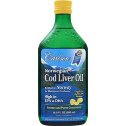 CARLSON Norwegian Cod Liver Oil Liquid Lightly Lemon 16.9 fl.oz