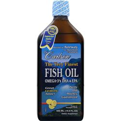 CARLSON The Very Finest Fish Oil Liquid Lemon 500 mL