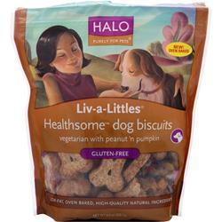 Halo Liv-A-Littles Healthsome Dog Biscuits Gluten-Free PeanutPumpkn 8 oz