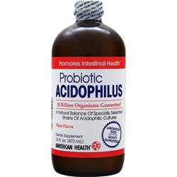 AMERICAN HEALTH Probiotic Acidophilus (Liquid) Plain 16 fl.oz