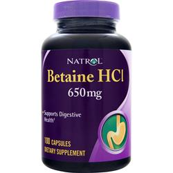 Natrol Betaine HCl (650mg) 100 caps
