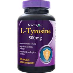 NATROL L-Tyrosine (500mg) 100 caps