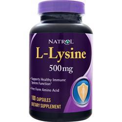 Natrol L-Lysine (500mg) 100 caps