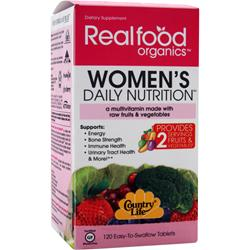 COUNTRY LIFE Real Food Organics Her Daily Nutrition 120 tabs