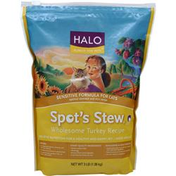 HALO Spot's Stew Sensitive Formula for Cats Wholesome Turkey Recipe 3 lbs