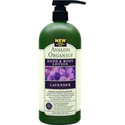 AVALON ORGANICS Hand & Body Lotion Lavender 32 fl.oz
