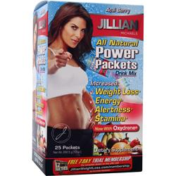 THIN CARE INTERNATIONAL Jillian Michaels Power Packets Drink Mix Acai Berry 25 pckts