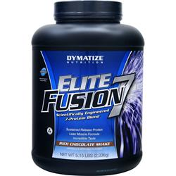 DYMATIZE NUTRITION Elite Fusion 7 Rich Chocolate Shake 5.15 lbs
