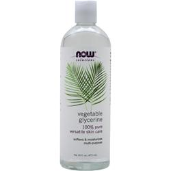NOW Vegetable Glycerine 100% Pure Versatile Skin Care 16 fl.oz