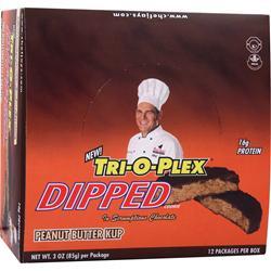 CHEF JAY'S Tri-O-Plex Dipped Cookies Peanut Butter Kup 12 pckts
