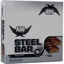 AMERICAN BODYBUILDING Steel Bar Cookies & Cream 12 bars
