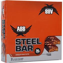 American Bodybuilding Steel Bar Chocolate Peanut Butter 12 bars
