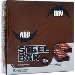 American Bodybuilding Steel Bar Chocolate Crisp 12 bars