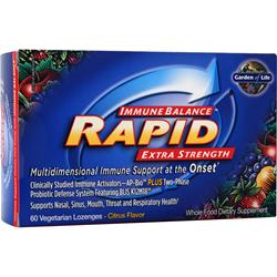 GARDEN OF LIFE Immune Balance Rapid - Extra Strength Citrus 60 lzngs