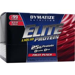DYMATIZE NUTRITION Elite Liquid Protein Fruit Punch 12 bttls
