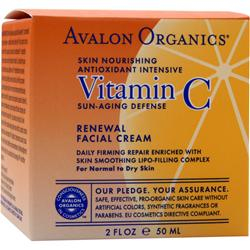 AVALON ORGANICS Vitamin C Sun-Aging Defense Renewal Facial Cream 2 fl.oz