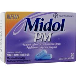 BAYER HEALTHCARE Midol PM 20 cplts