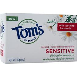 TOM'S OF MAINE Natural Beauty Bar Sensitive - Unscented 4 oz