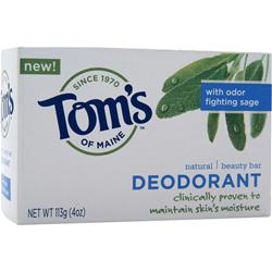 TOM'S OF MAINE Natural Beauty Bar Deodorant - Sage 4 oz