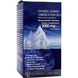OLYMPIAN LABS Enteric Coated Omega-3 Fish Oils 120 caps