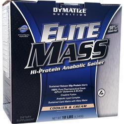 Dymatize Nutrition Elite Mass Cookies & Cream 10 lbs
