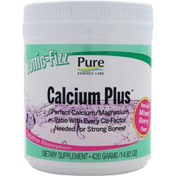 PURE ESSENCE LABS Ionic-Fizz Calcium Plus Non-Tart Mixed Berry 420 grams