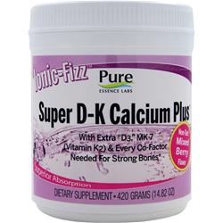 Pure Essence Labs Ionic-Fizz Super D-K Calcium Plus Non-Tart Mixed Berry 420 grams