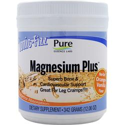 PURE ESSENCE LABS Ionic-Fizz Magnesium Plus Non-Tart Orange Vanilla 342 grams