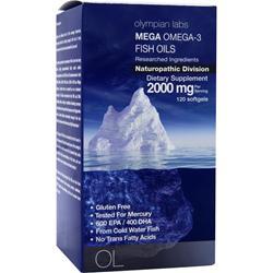 OLYMPIAN LABS Mega Omega-3 Fish Oils 120 sgels