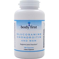BODY FIRST Glucosamine Chondroitin and MSM 180 caps