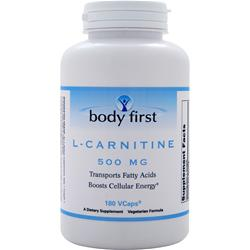BODY FIRST L-Carnitine (500mg) 180 vcaps