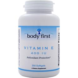 BODY FIRST Vitamin E (400IU) 250 sgels
