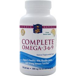 Nordic Naturals Complete Omega-3-6-9 Lemon 120 sgels