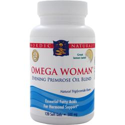 NORDIC NATURALS Omega Woman - Evening Primrose Oil Blend Lemon 120 sgels