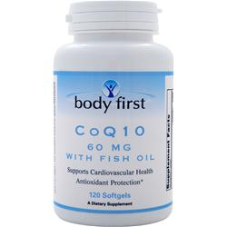 BODY FIRST CoQ10 (60mg) with Fish Oil 120 sgels