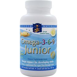 NORDIC NATURALS Omega-3-6-9 Junior Lemon 180 sgels