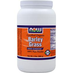 NOW Barley Grass Powder - Certified Organic 2 lbs