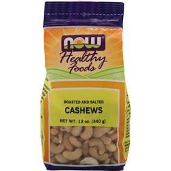NOW Roasted and Salted Cashews 12 oz