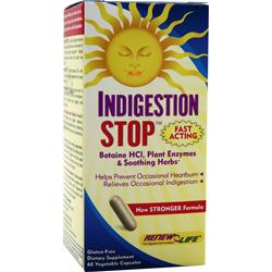 RENEW LIFE Indigestion Stop Best by 8/14 60 vcaps