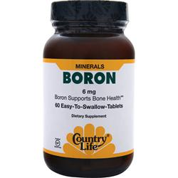 Country Life Boron (6mg) 60 tabs