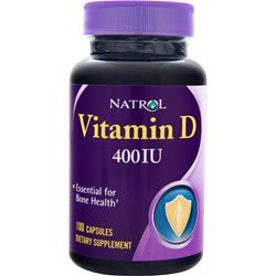 NATROL Vitamin D (400IU) 100 caps