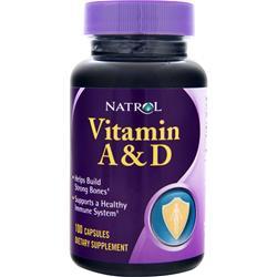 Natrol Vitamin A & D 100 caps