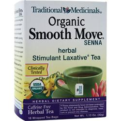 TRADITIONAL MEDICINALS Organic Herbal Tea Smooth Move 16 pckts
