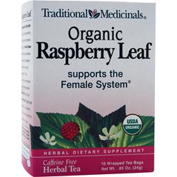 TRADITIONAL MEDICINALS Organic Herbal Tea Raspberry Leaf 16 pckts